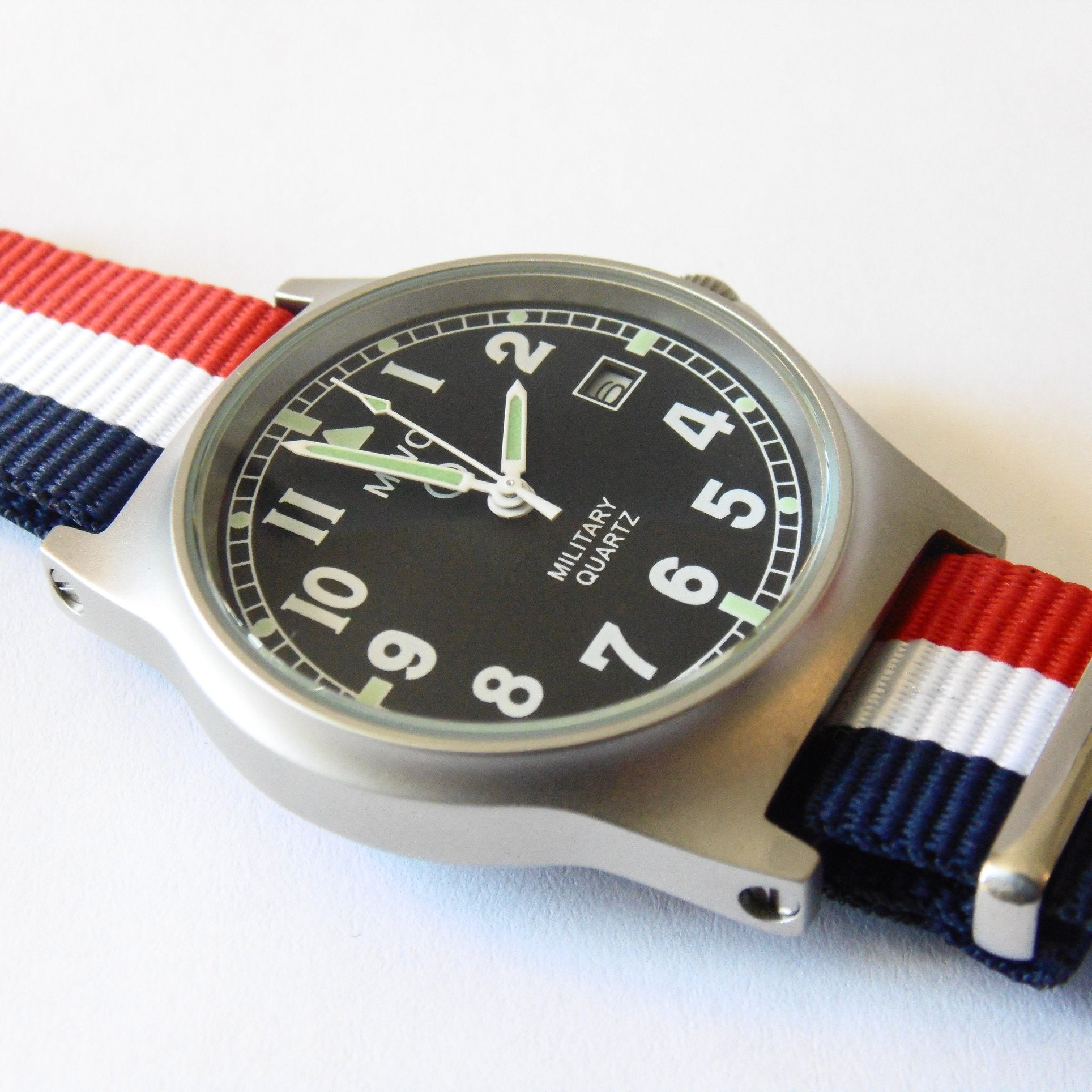 MWC G10 LM Military Watch (French Strap) - Watchfinder General - UK suppliers of Russian Vostok Parnis Watches MWC G10  - 2
