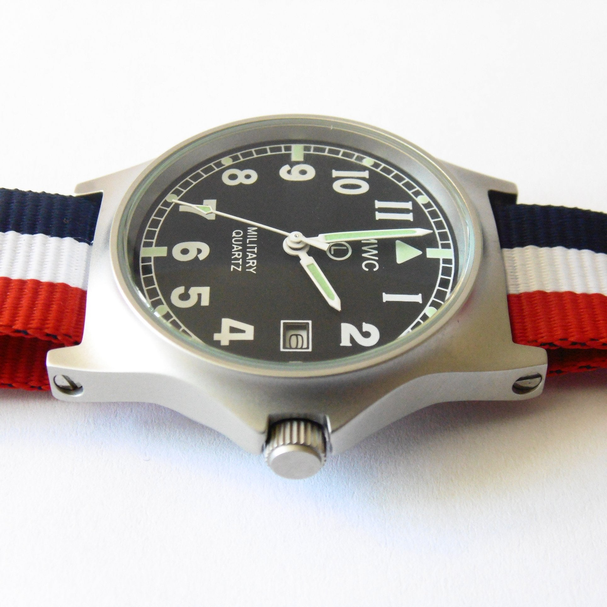 MWC G10 LM Military Watch (French Strap) - Watchfinder General - UK suppliers of Russian Vostok Parnis Watches MWC G10  - 3