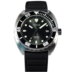 Pantor Sea Lion Automatic Divers Watch Black 300M