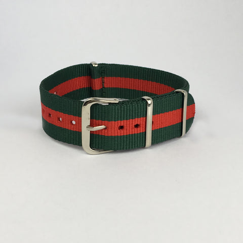 Green & Red Portugal Nato Strap