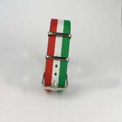 Green, White & Red Italy Nato Strap