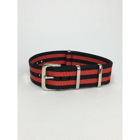 Luftwaffe Red & Black Nato Strap