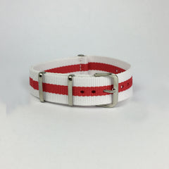 Red & White England Nato Strap