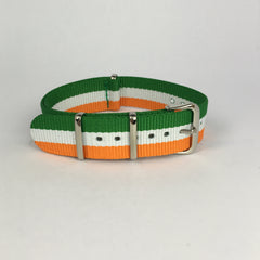 Orange, White & Green Ireland Nato Strap