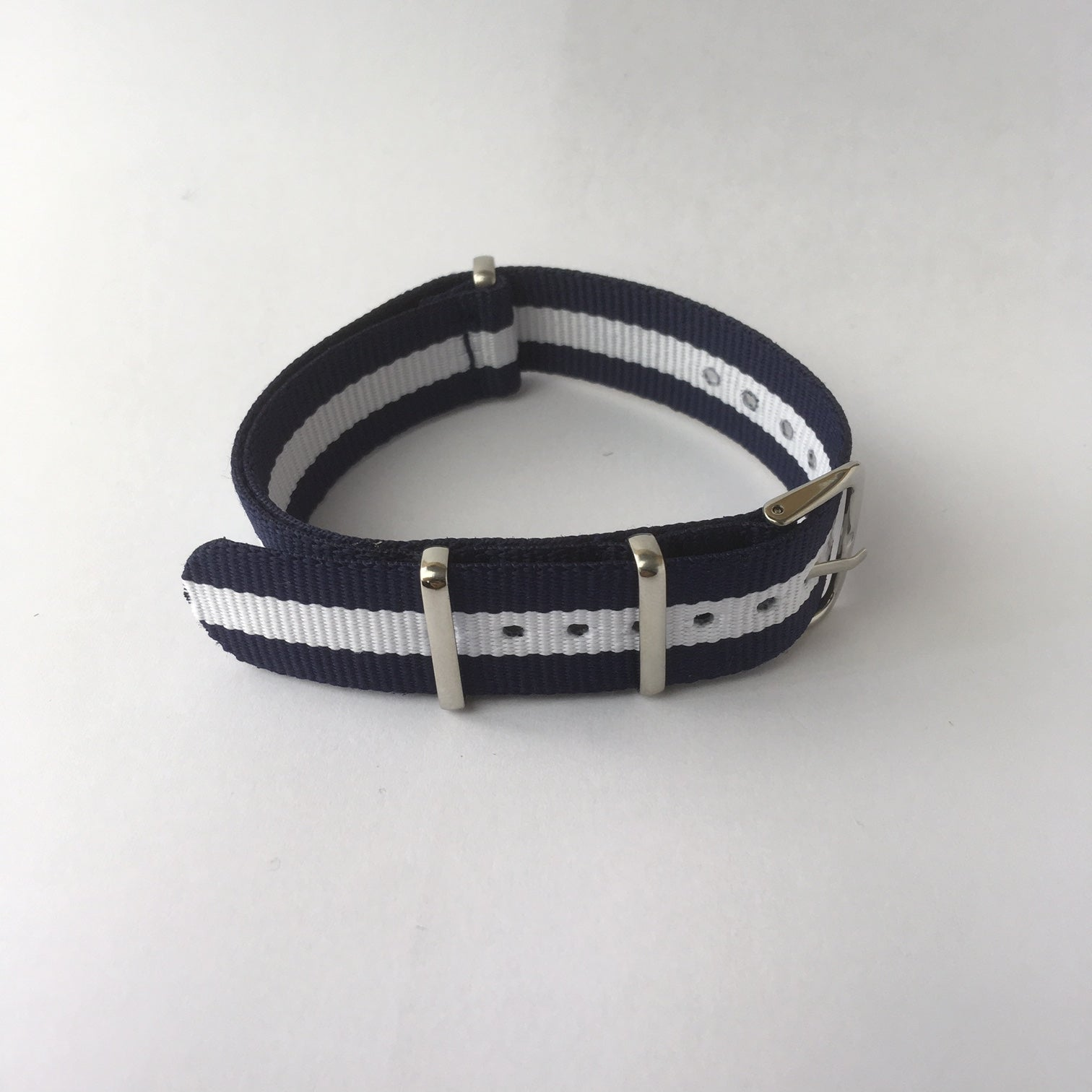 Blue & White Scotland Nato Strap