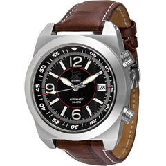 Lew and Huey Acionna Automatic Watch (Black, White & Red) - Watchfinder General - UK suppliers of Russian Vostok Parnis Watches MWC G10  - 2