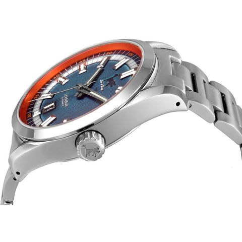 Lew and Huey Cerberus Automatic Watch (Blue & Orange) - Watchfinder General - UK suppliers of Russian Vostok Parnis Watches MWC G10  - 2