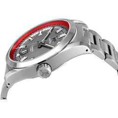 Lew and Huey Cerberus Automatic Watch (Grey & Red) - Watchfinder General - UK suppliers of Russian Vostok Parnis Watches MWC G10  - 2
