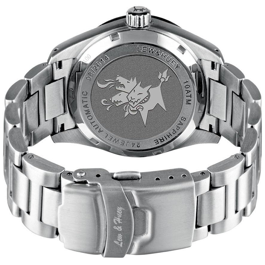 Lew and Huey Cerberus Automatic Watch (Grey & Red) - Watchfinder General - UK suppliers of Russian Vostok Parnis Watches MWC G10  - 3