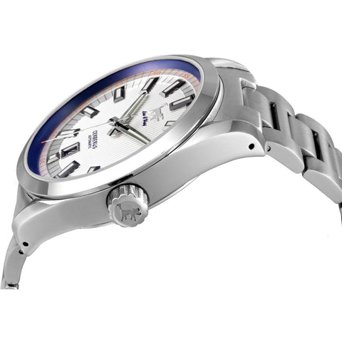 Lew and Huey Cerberus Automatic Watch (White & Blue) - Watchfinder General - UK suppliers of Russian Vostok Parnis Watches MWC G10  - 2