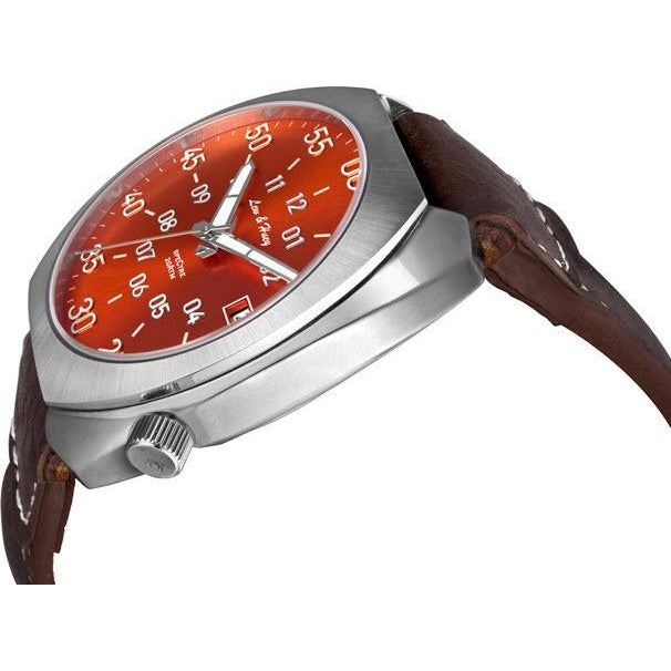 Lew and Huey Spectre Automatic Watch (Fireball Orange) - Watchfinder General - UK suppliers of Russian Vostok Parnis Watches MWC G10  - 2
