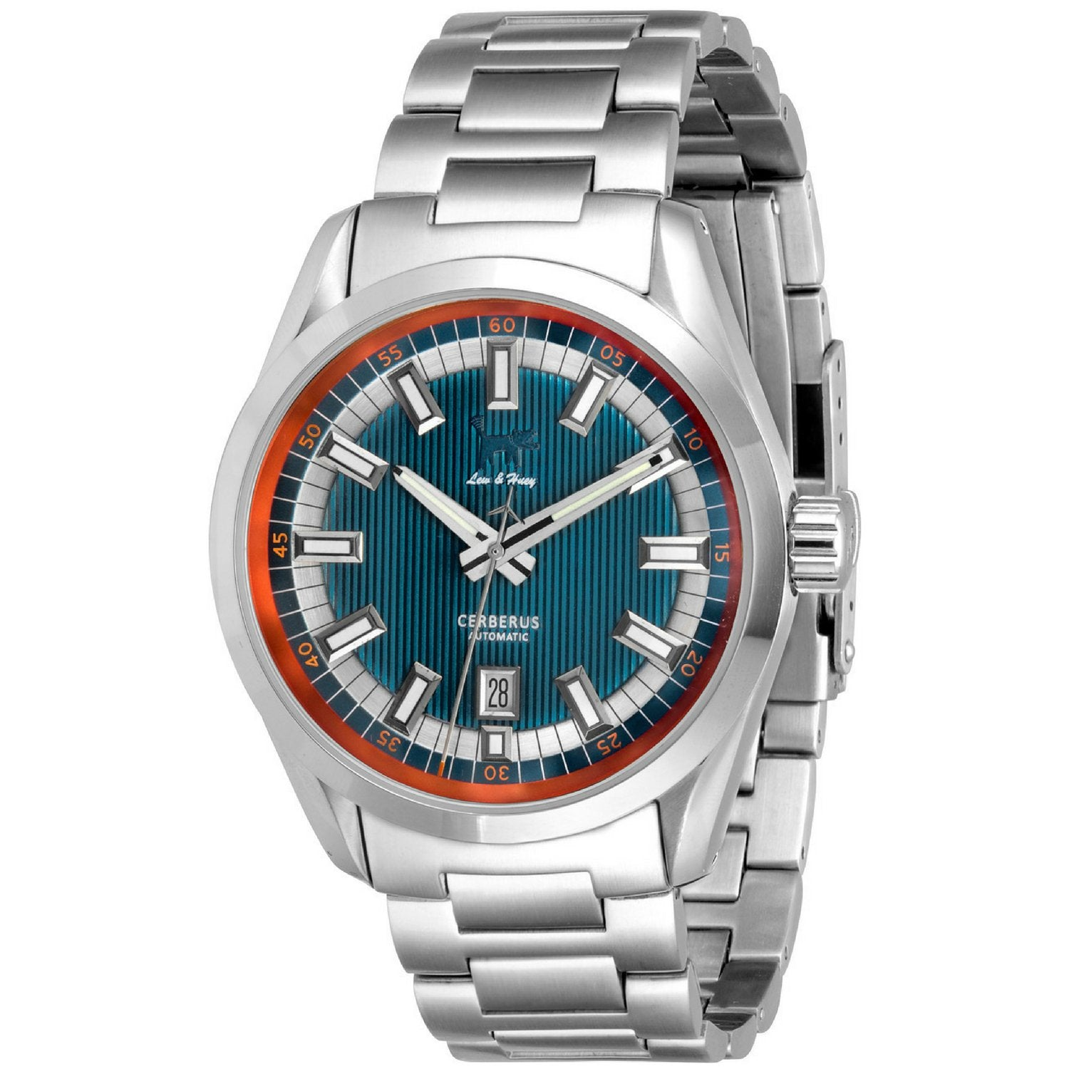 Lew and Huey Cerberus Automatic Watch (Blue & Orange)