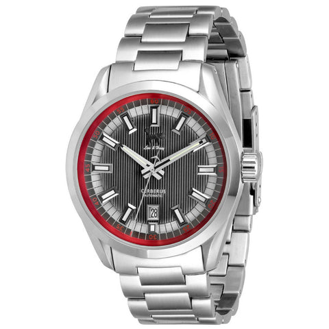 Lew and Huey Cerberus Automatic Watch (Grey & Red)
