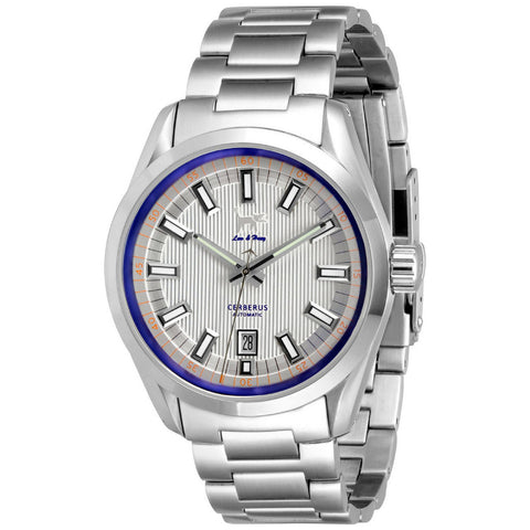Lew and Huey Cerberus Automatic Watch (White & Blue)
