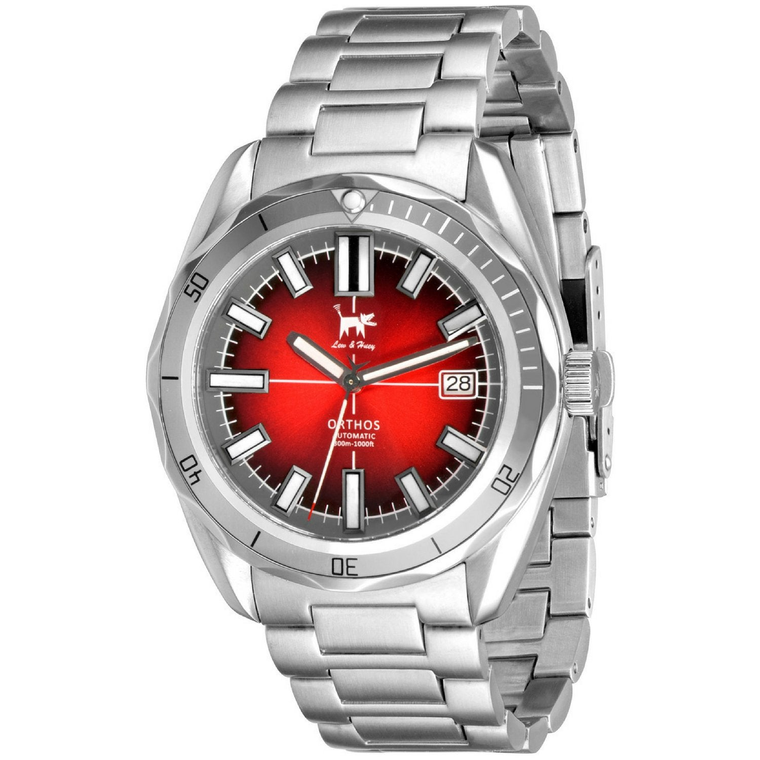Lew and Huey Orthos Automatic Watch (Red & Grey)