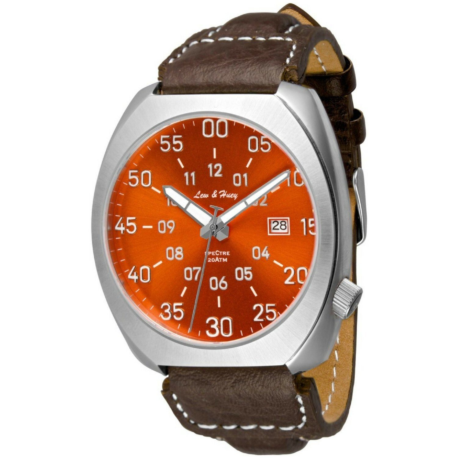 Lew and Huey Spectre Automatic Watch (Fireball Orange)