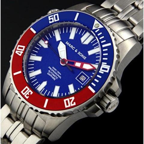 MARC & SONS 300M Professional automatic Diver watch MSD-031 - Watchfinder General - UK suppliers of Russian Vostok Parnis Watches MWC G10  - 2
