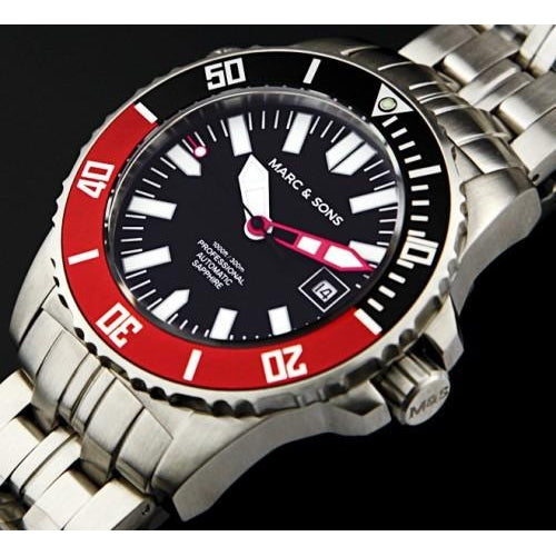 MARC & SONS 300M Professional automatic Diver watch MSD-032 - Watchfinder General - UK suppliers of Russian Vostok Parnis Watches MWC G10  - 2