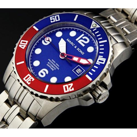 MARC & SONS 300M Professional automatic Diver watch MSD-035 - Watchfinder General - UK suppliers of Russian Vostok Parnis Watches MWC G10  - 2