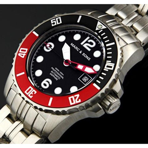 MARC & SONS 300M Professional automatic Diver watch MSD-036 - Watchfinder General - UK suppliers of Russian Vostok Parnis Watches MWC G10  - 2