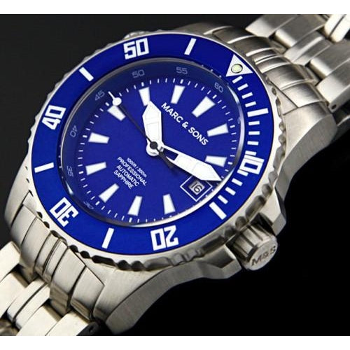 MARC & SONS 300M Professional automatic Diver watch MSD-038 - Watchfinder General - UK suppliers of Russian Vostok Parnis Watches MWC G10  - 2