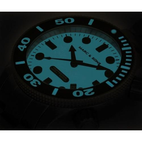 MARC & SONS 1000M Professional automatic Diver watch MSD-027 - Watchfinder General - UK suppliers of Russian Vostok Parnis Watches MWC G10  - 3