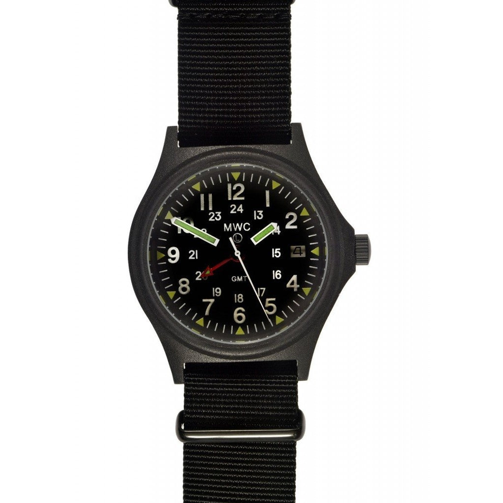 MWC GMT 100m Water Resistant Model in Black PVD Steel Case