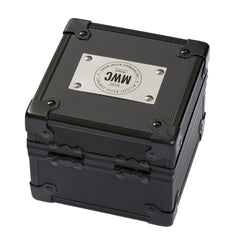 MWC Black Metal Watch Box with Logo - Watchfinder General - UK suppliers of Russian Vostok Parnis Watches MWC G10  - 2