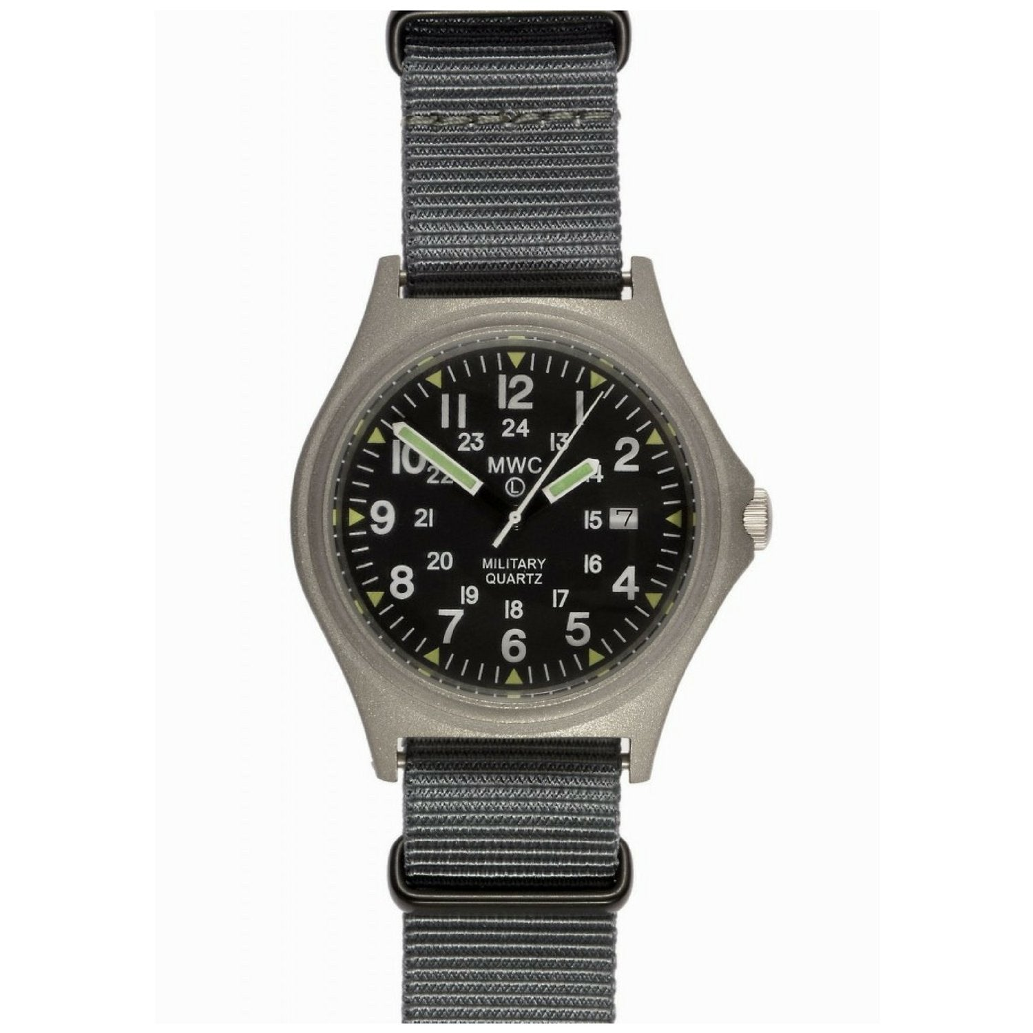 MWC G10BH 12/24 50m Water Resistant Military Watch (Stainless Steel or PVD)