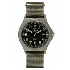 MWC G10BH 50m Water Resistant Military Watch (Stainless Steel or PVD)