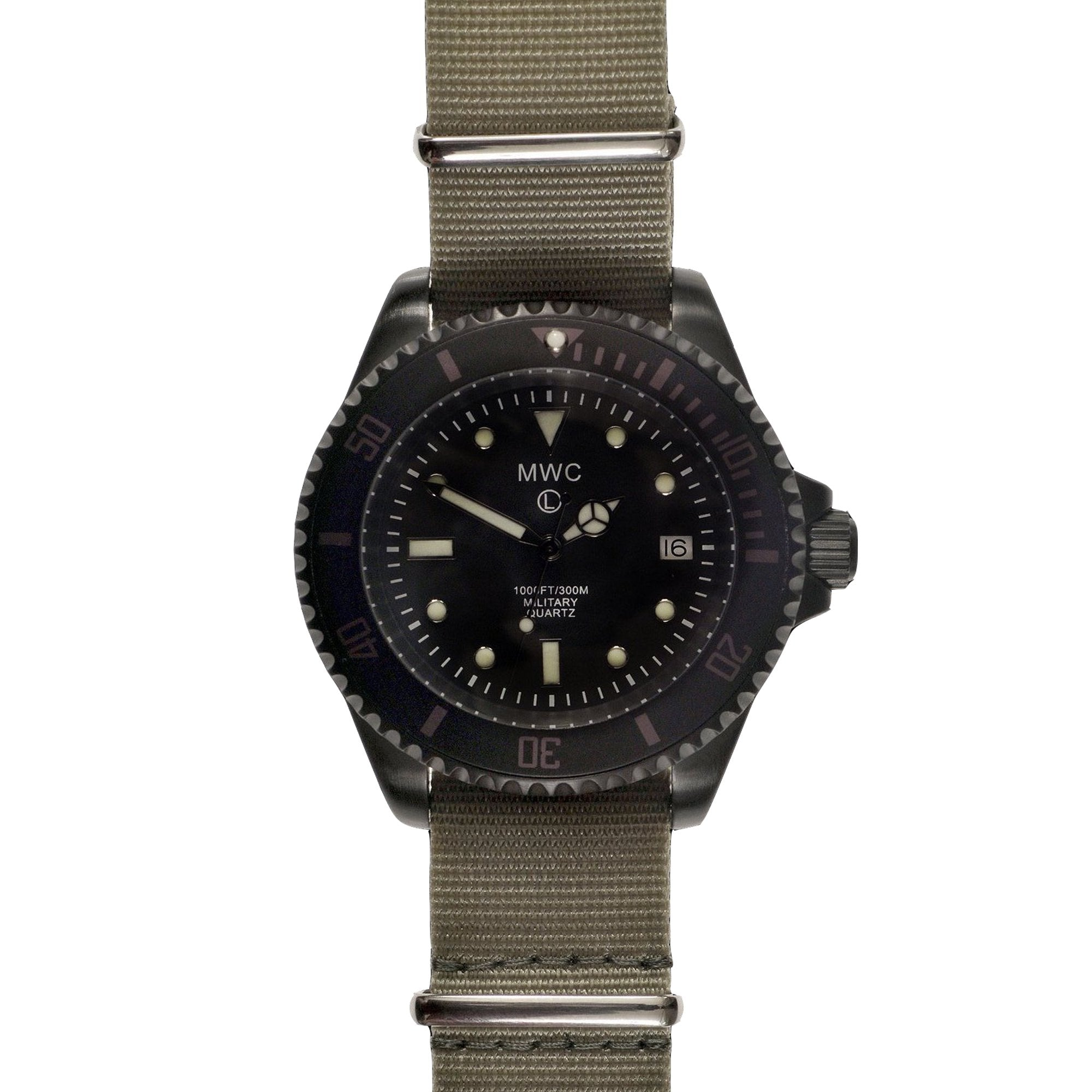 MWC Quartz 300m PVD Stainless Steel Submariner (Choice of Straps)