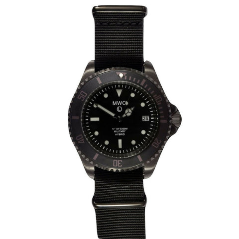 MWC  Black PVD Hybrid Military 300m/1000ft Divers Watch