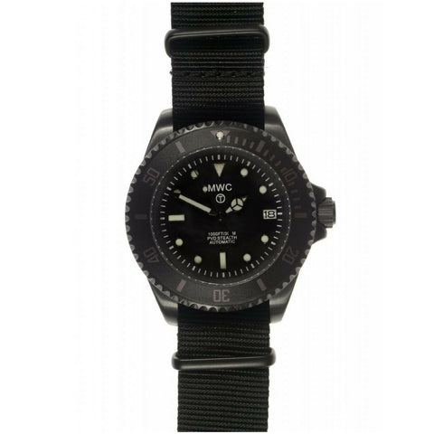 MWC 21 Jewel 300m Automatic Submariner in Black PVD Steel
