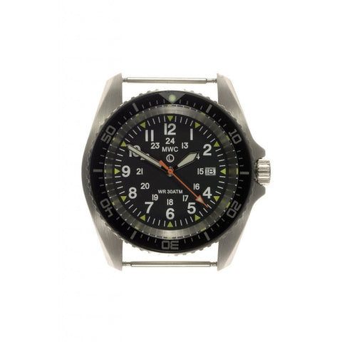 MWC 12/24 Military Divers Watch in Stainless Steel Case (Quartz) - Watchfinder General - UK suppliers of Russian Vostok Parnis Watches MWC G10  - 2