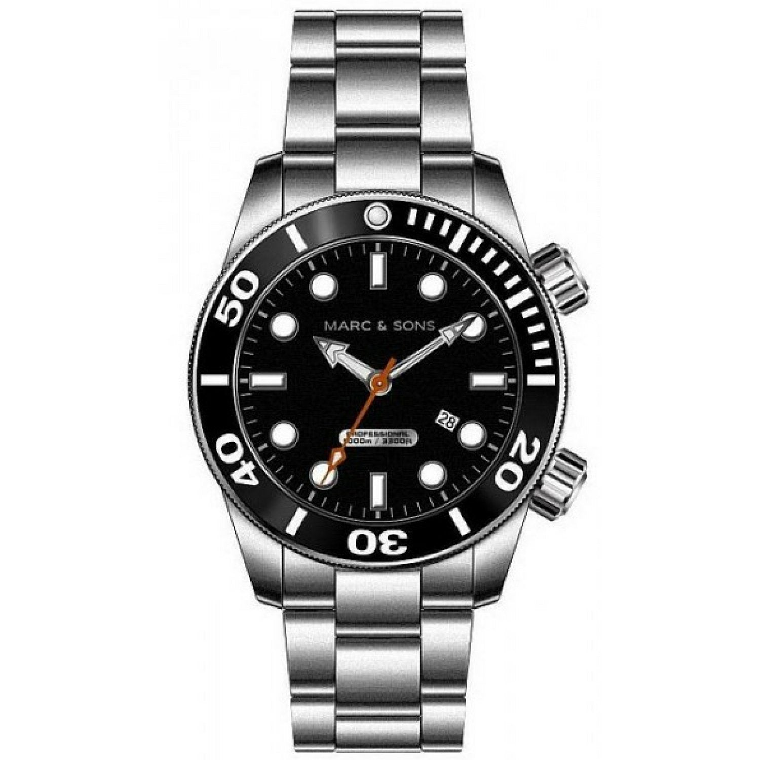 MARC & SONS 1000M Professional automatic Diver watch MSD-020