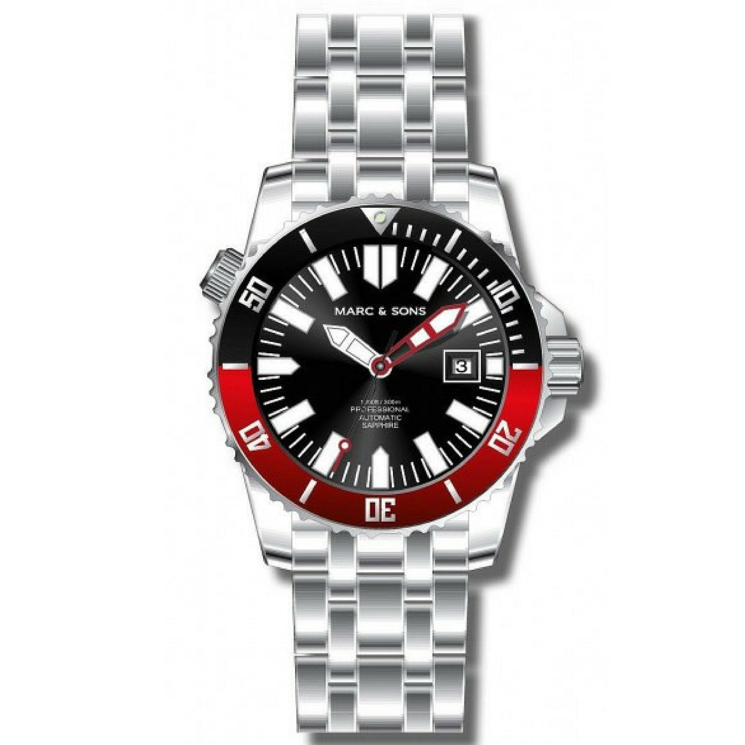 MARC & SONS 300M Professional automatic Diver watch MSD-032