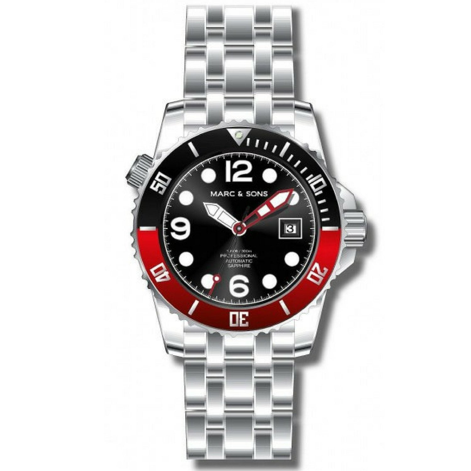 MARC & SONS 300M Professional automatic Diver watch MSD-036