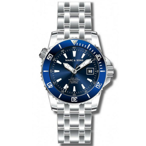 MARC & SONS 300M Professional automatic Diver watch MSD-038