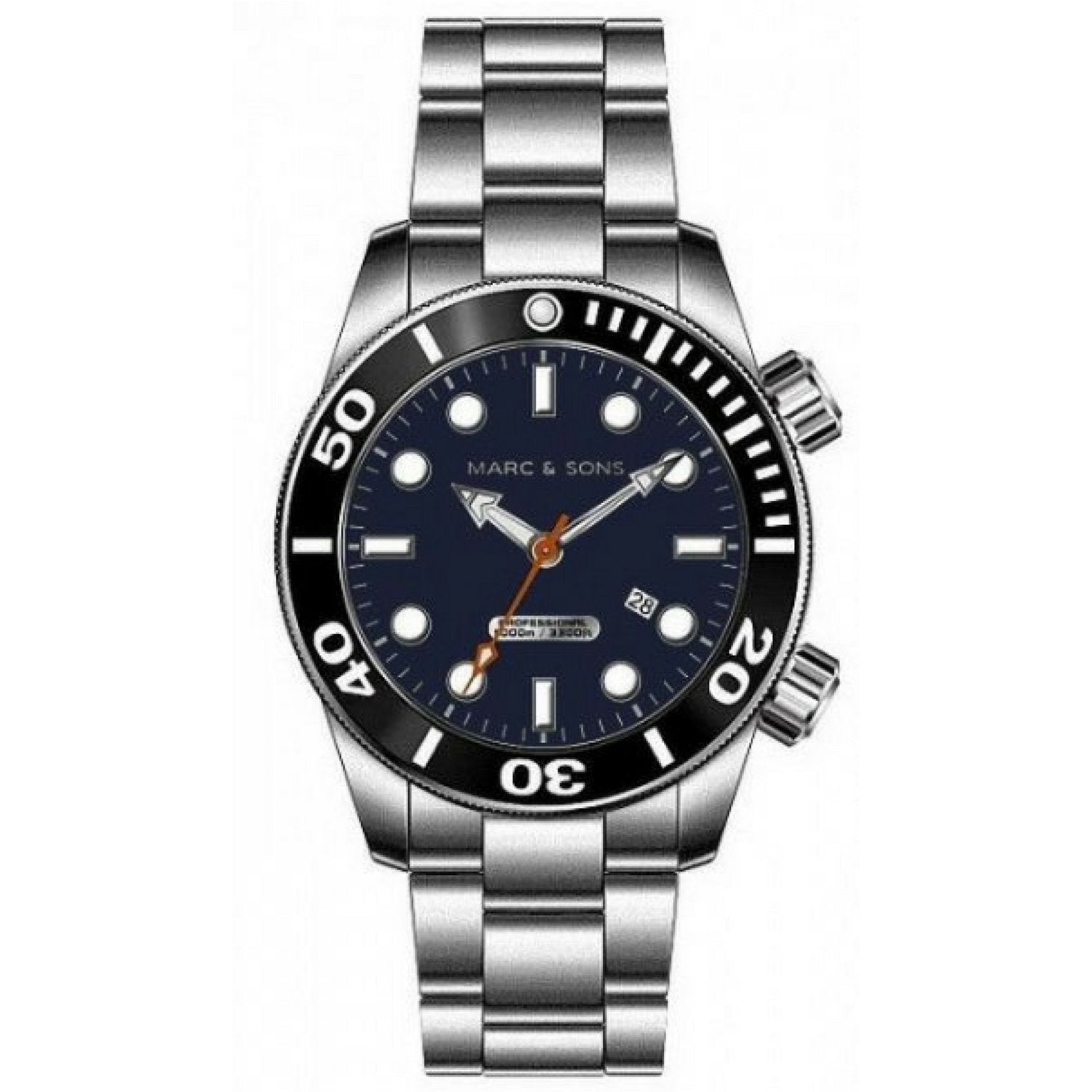 MARC & SONS 1000M Professional Automatic Divers Watch MSD-043