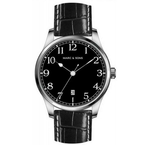 MARC & SONS Marine Automatic Watch Date (Black Dial) MSM-002