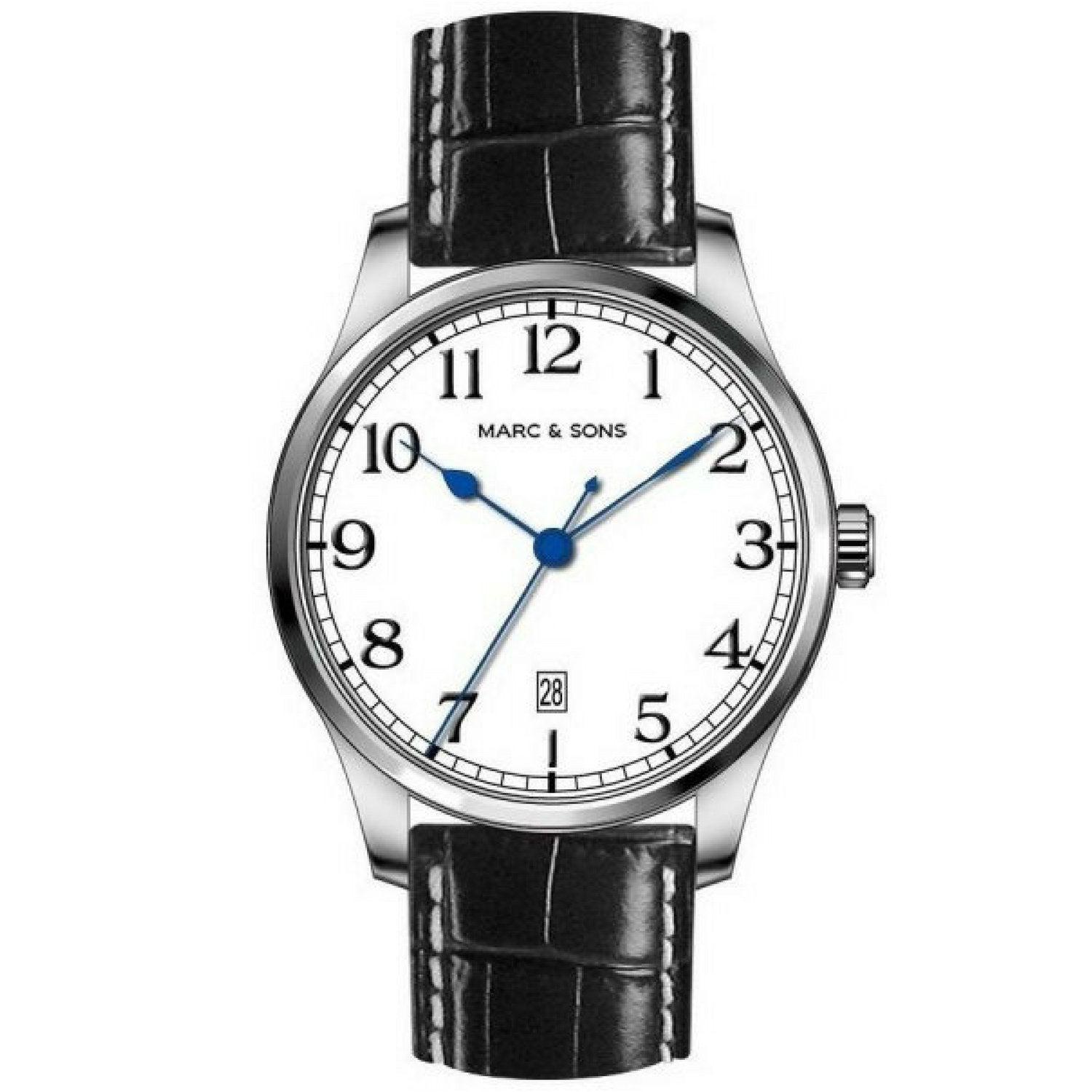 MARC & SONS Marine Automatic Watch Date (White Dial) MSM-006