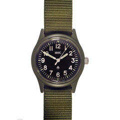 MWC Classic 1960s/70s European Pattern Quartz Watch (Black or Olive)