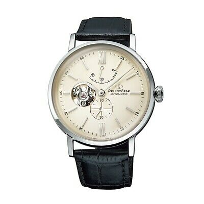 Orient Star Classic Semi Skeleton Automatic Watch with Leather Strap RE-AV0002S00B