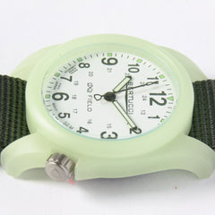 Bertucci DX3 Luminous Resin Watch, Olive Green Nylon Strap, White Dial - 11028 - Watchfinder General - UK suppliers of Russian Vostok Parnis Watches MWC G10  - 4