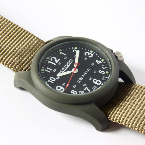 Bertucci DX3 Olive Resin Watch, Coyote Nylon Strap, Black Dial - 11027 - Watchfinder General - UK suppliers of Russian Vostok Parnis Watches MWC G10  - 2