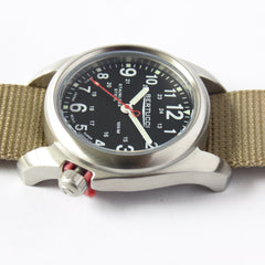 Bertucci 11052 A-2S Field Watch (Defender Khaki Strap) - Watchfinder General - UK suppliers of Russian Vostok Parnis Watches MWC G10  - 4