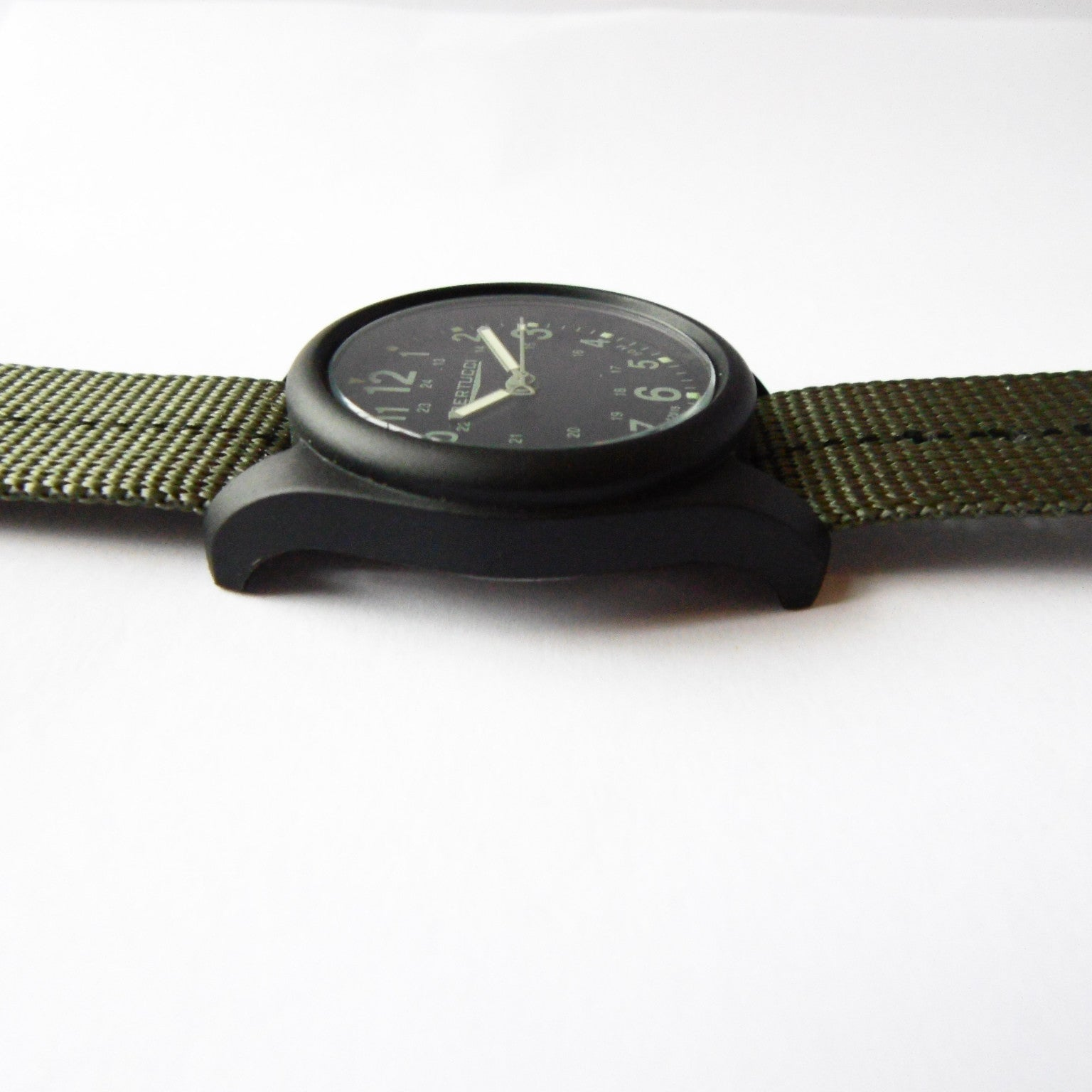 Bertucci DX3 Plus Field Resin Watch (Dash-Striped Drab Nylon Strap) 11040 - Watchfinder General - UK suppliers of Russian Vostok Parnis Watches MWC G10  - 4
