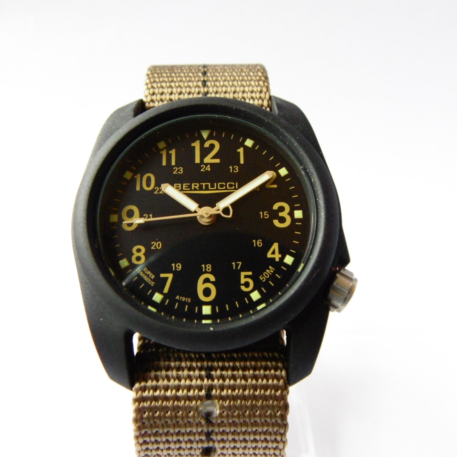 Bertucci DX3 Plus Field Resin Watch (Dash-Striped Desert Nylon Strap) 11041 - Watchfinder General - UK suppliers of Russian Vostok Parnis Watches MWC G10  - 3
