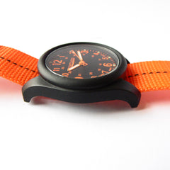 Bertucci DX3 Plus Field Resin Watch (Dash-Striped Orange Nylon Strap) 11042 - Watchfinder General - UK suppliers of Russian Vostok Parnis Watches MWC G10  - 4