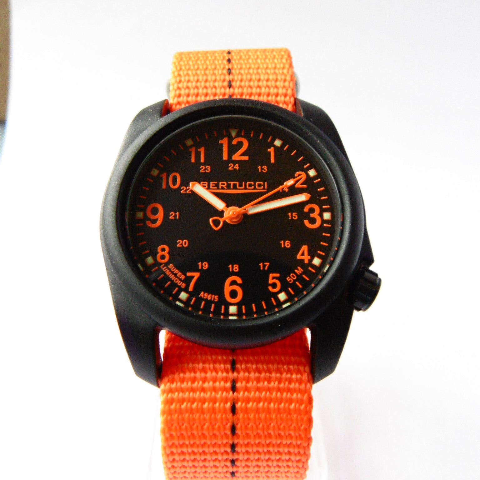 Bertucci DX3 Plus Field Resin Watch (Dash-Striped Orange Nylon Strap) 11042 - Watchfinder General - UK suppliers of Russian Vostok Parnis Watches MWC G10  - 3